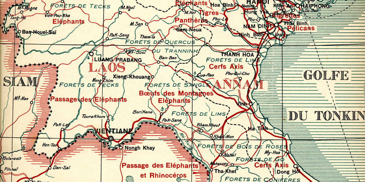 carte map laos elephant caravan