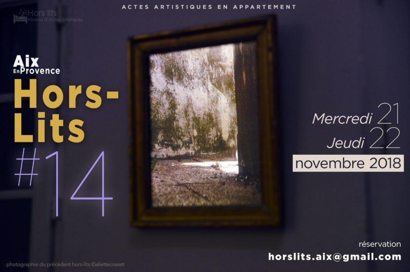Hors lits 14 aix en provence flyer photographie Aliette Cosset graphisme guillaume loiseau